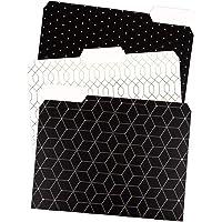 U Brands Modern Classic Fashion File Folders, 1/3 Cut, Letter Size, Assorted Colors, 24 Pack