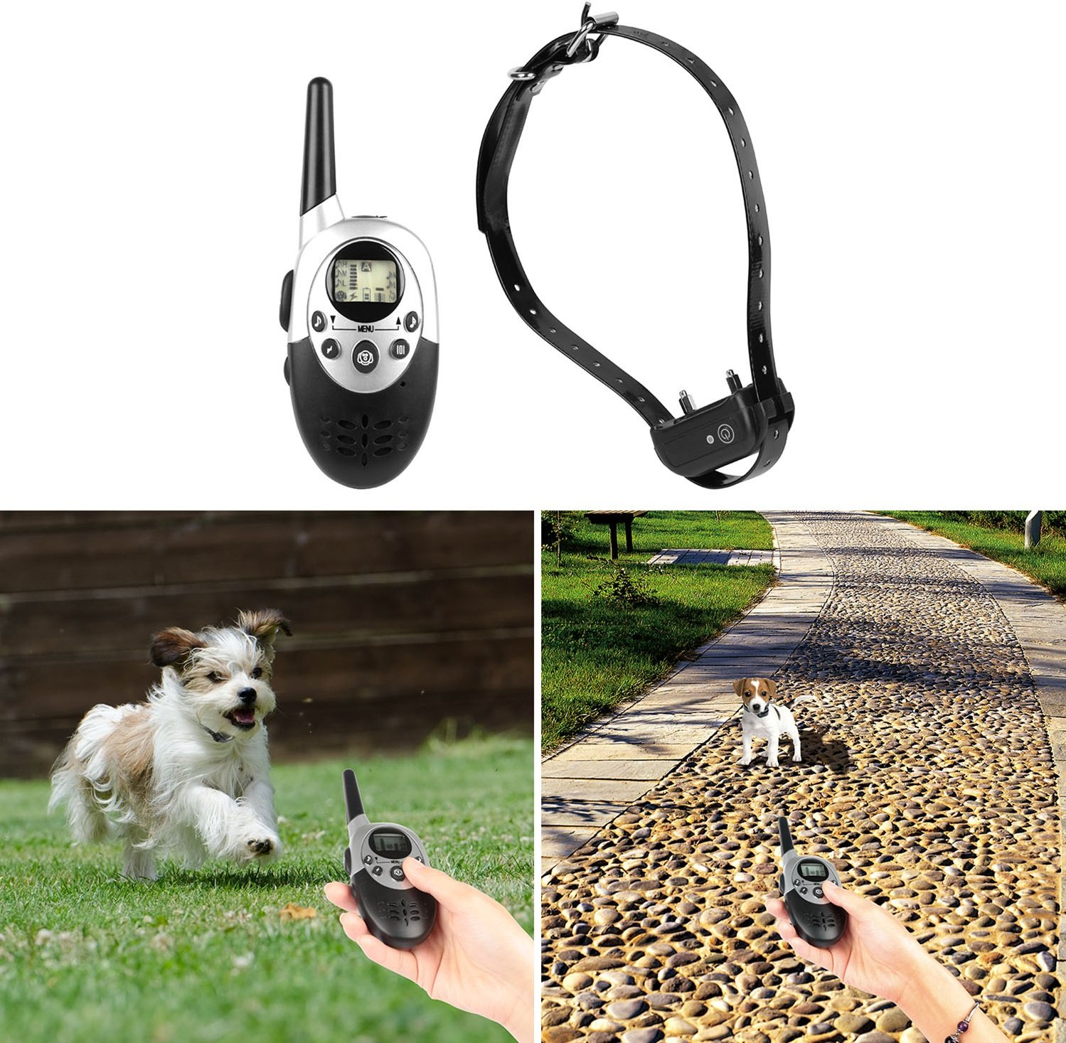GPCT Rechargeable [Waterproof] Adjustable Dog Training Collar Remote. 500 Yard Range, 3 Modes Correction 8 Levels of Shock Dog Collar W Beep Vibration Shock Electric E-Collar Trainer- All Size Dogs