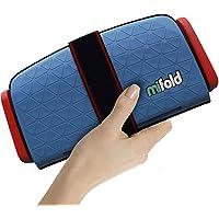 Mifold Grab-and-Go - Asiento elevador para coche, Azul (Denim Blue), Paquete de 1