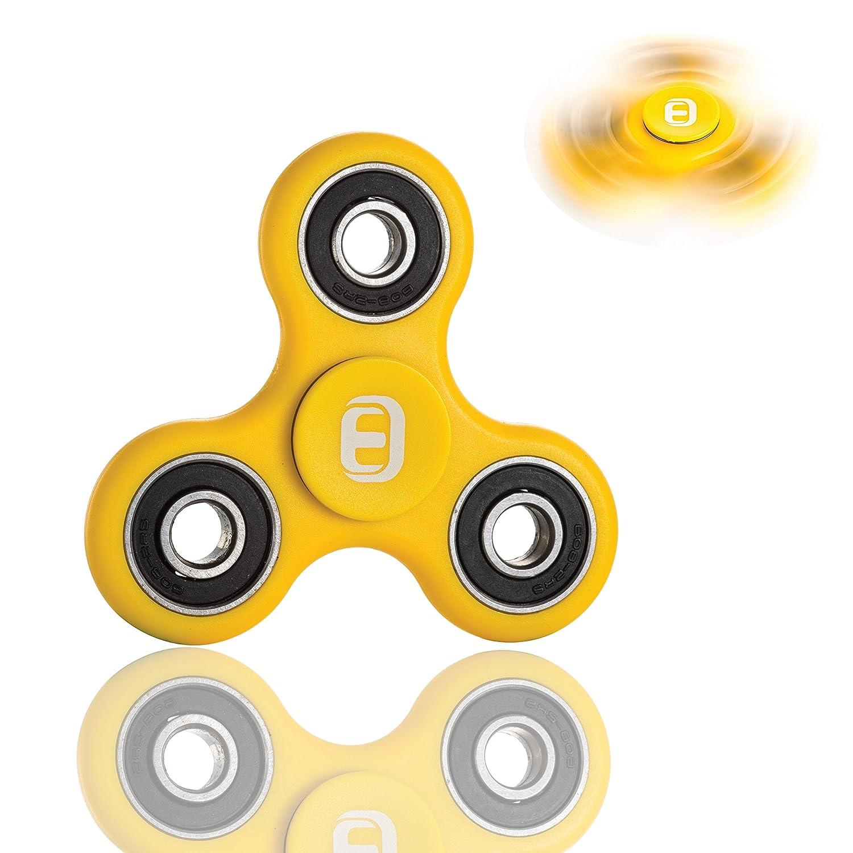 Oriental eLife Fidget Spinner, edc Fuoco Giocattolo Mano filatore - mitigatori di Stress per ADD, ADHD allevia Lo Stress, l'autismo e l'ansia e Relax per Bambini e Adulti (ABS, Yellow)