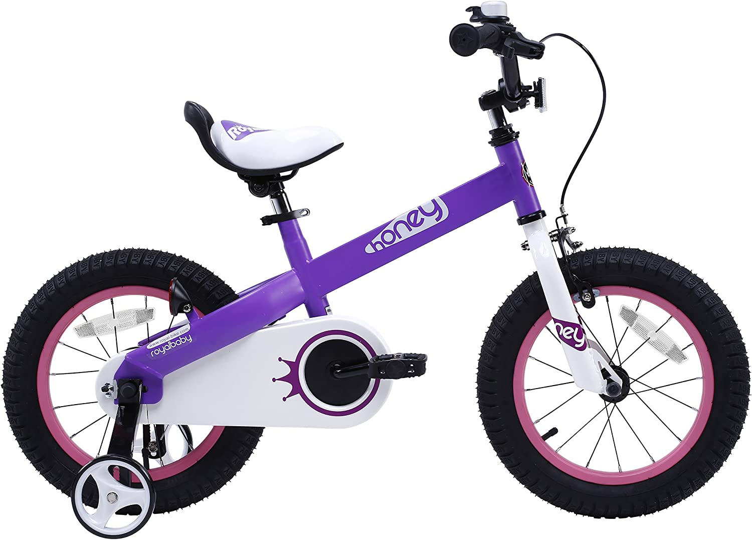 RoyalBaby Honey Buttons Kids Bike, for Boys Girls, with Training Wheels or Kickstand