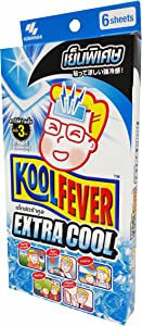 Kool Fever, 2 Boxes of Kool Fever Extra Cool, Cooling Fever Patch, Super-strong Cooling Effect Suitable When Feeling Hot. (Size : 50 Mm X 130 Mm/ Sheet.), (6 Sheets/ Box)