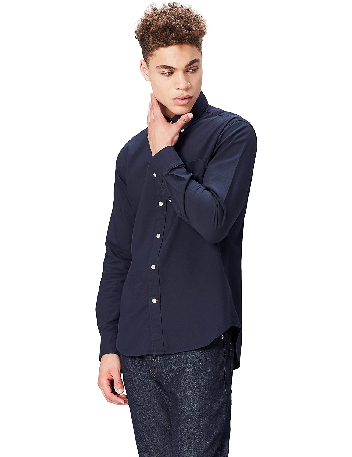 Marca Amazon - find. Regular Oxford - Camisa Hombre
