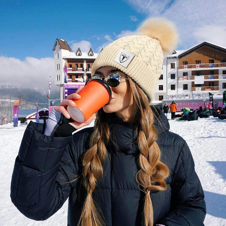 Womens Winter Beanie Hat Stretchy Ski Cap HOUYL Massey-Ferguson-Farm-Tractor