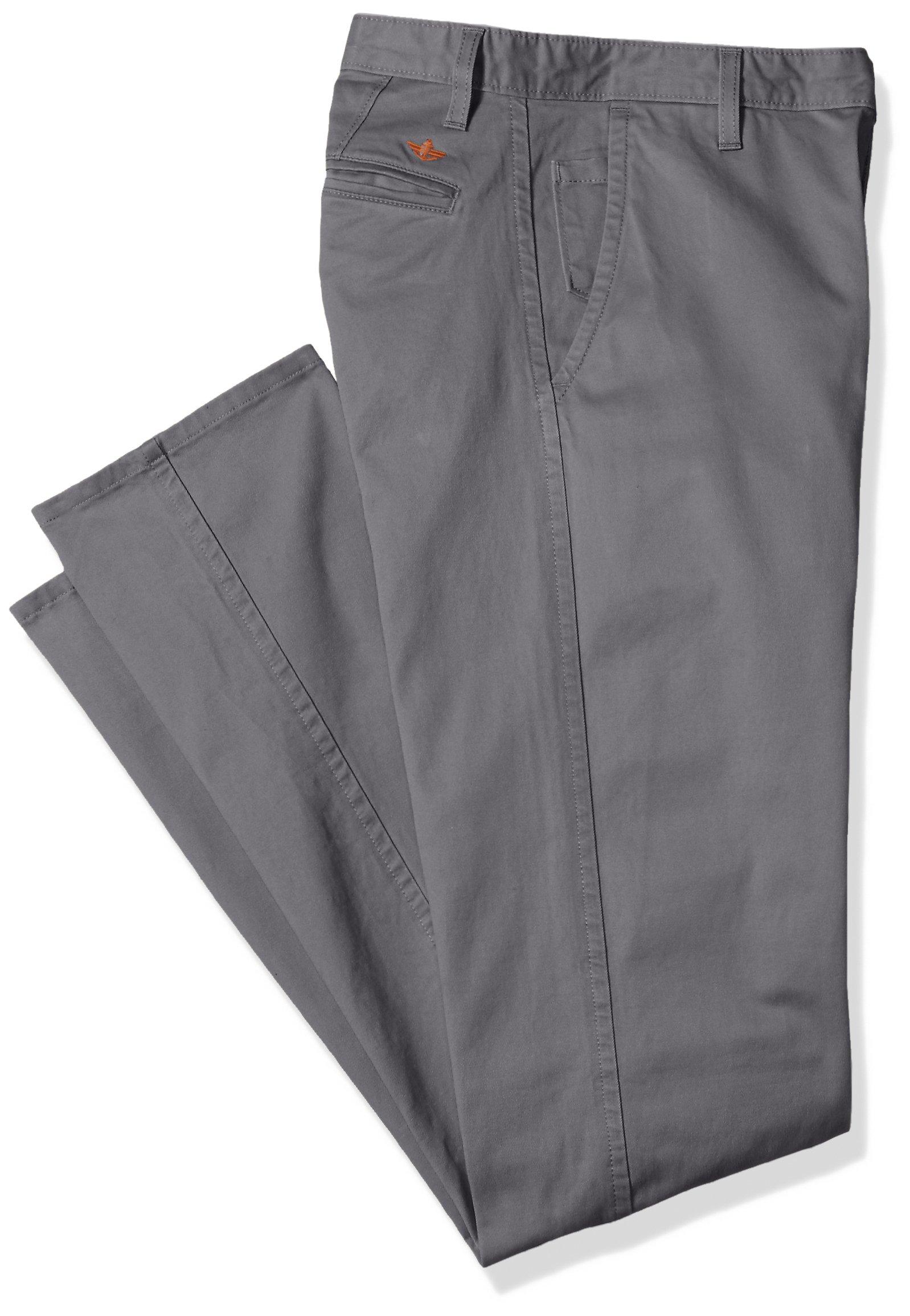 Dockers Men's Big and Tall Modern Tapered Fit Alpha Khaki Pants, Burma Grey (Stretch), 44W x 30L