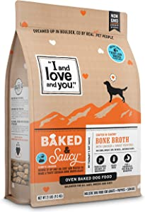 """""""I and love and you"""" Baked & Saucy Grain Free Kibble Dry Dog Food with Gravy Coating (Variety of Flavors)"""