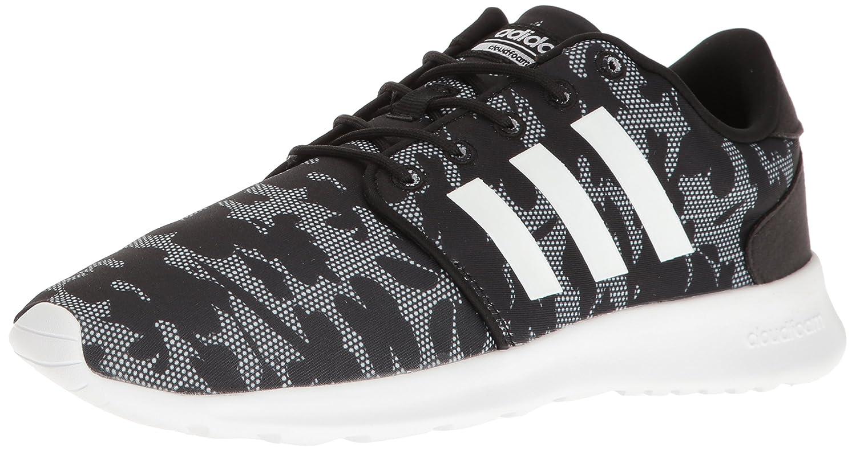 adidas Women's Cloudfoam QT Racer Running Shoe B01HSIJ8KO 10 B(M) US|Black/White/Black Mesh