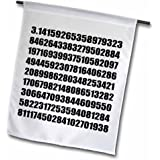 3dRose fl_164992_1 Pi Math Number Mathematical Black and White Mathematic Numeric Figures Garden Flag, 12 by 18-Inch