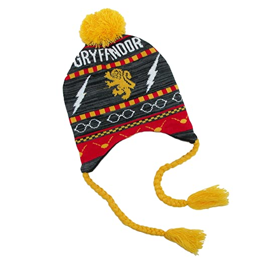 Amazon.com  BioWorld Juniors Harry Potter Gryffindor Fairisle Laplander Hat   Clothing 9b8b8c3ef9f