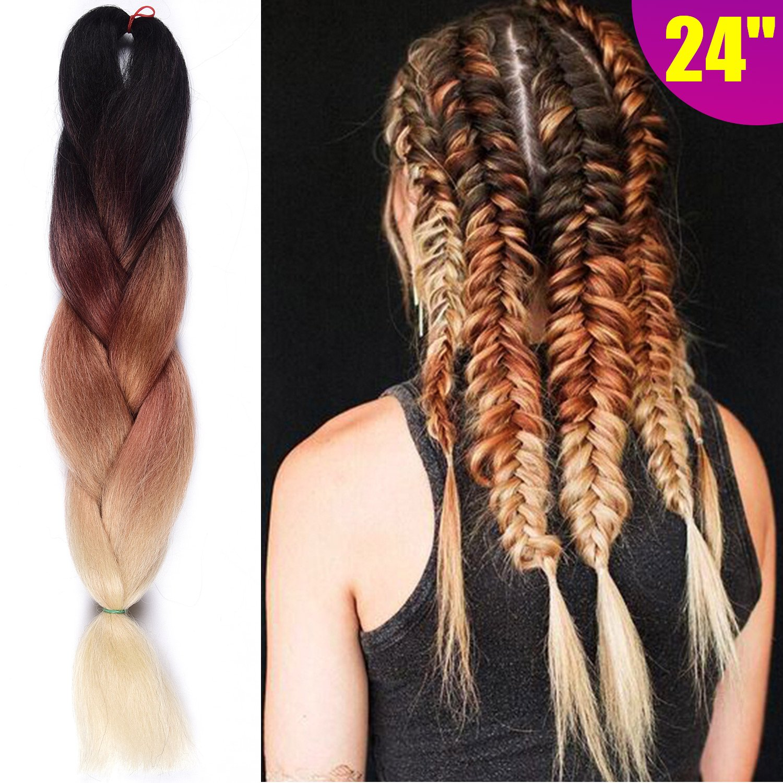 Amazon Silike 24 Jumbo Braid Crochet Hair 5 Pieces Afro