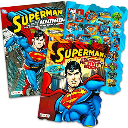 Amazon.com: Superman Coloring Book Set with Stickers (2 Books ...