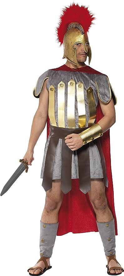Smiffys - Costume Guerrier Romain Luxe Rouge Et Gris - Taille M  Smiffys   Amazon.fr  Jeux et Jouets dfd079579de