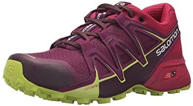 Salomon Damen Speedcross Vario 2 Trailrunning-Schuhe, Violett/Rot (Dark Purple/Cerise/Acid Lime), Gr. 40