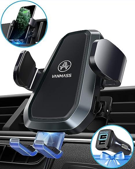 Amazon.com: VANMASS Cargador de coche inalámbrico 10W Negro ...