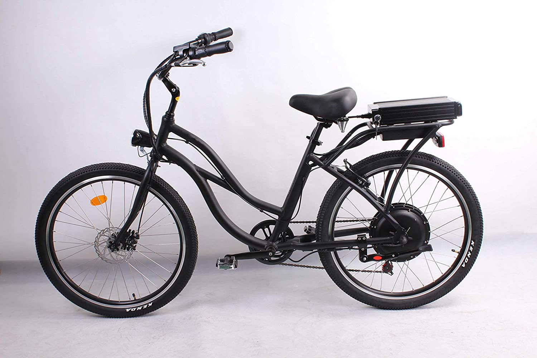 móvil 500W 48V 10.4AH Bicicleta eléctrica 26x2.125 Bike Cruiser 7 ...