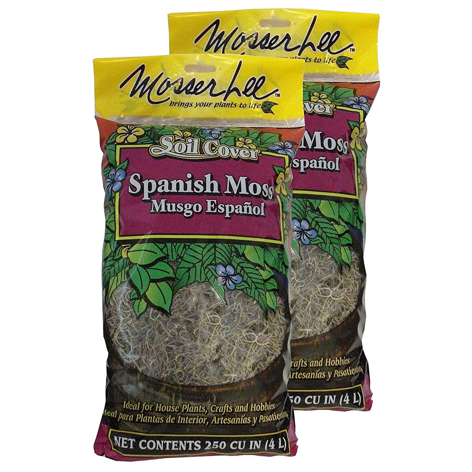 Mosser Lee ML0560 Spanish Moss, 250 cu. in. (4 Pack)