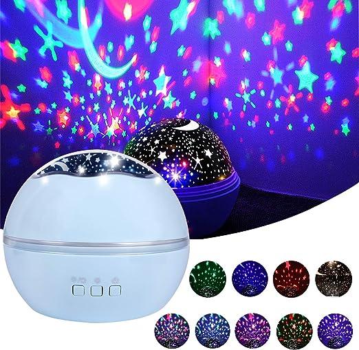 Lámpara de Proyector, Zmoon Noche de Estrellas Proyector Luz ...