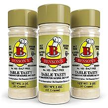 3-Pack Table Tasty No Potassium Chloride Salt Substitute - No Bitter After Taste - Good Flavor - No Sodium Salt Alternative