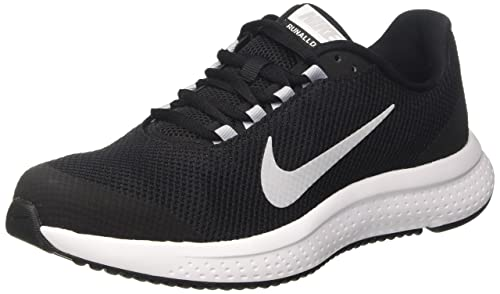 new product 69abf 5fcc0 Nike Men s Black Wolf Grey White Mesh Running Shoes - 9