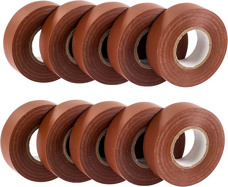 Paquete premium de 10 rollos 20 m x 19 mm Cinta de alta calidad GTSE 10 rollos de cinta aislante el/éctrica de PVC verde