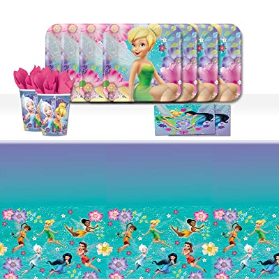 Disney Tinkerbell Fairies Children's Birthday Party Tableware Pack For 16: Toys & Games
