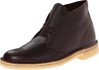Clarks Men's Desert Chukka Boot, Brown Tumbled Leather, 7.5 M US
