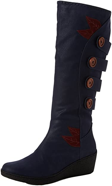 455b7108f906 Joe Browns Women s Funky and Fabulous Wedge Boots (Blue)