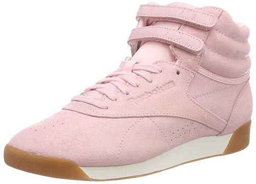 8cfad0187cd39 Reebok Women s Freestyle Hi-Top Trainers  Amazon.co.uk  Shoes   Bags