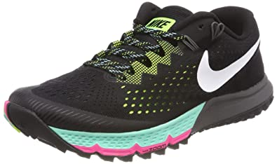 lowest price bf9d2 410a2 Nike Mens Zoom Terra Kiger 4 Trail Running Shoes Black White Volt 880563-