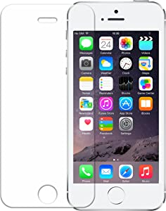 iPhone SE 2016 Screen Protector, Wisdompro 0.33 mm Tempered Glass Screen Protectors for 4 inch Apple iPhone SE 1st Generation, iPhone 5s, iPhone 5c, and iPhone 5 (1 Pack)