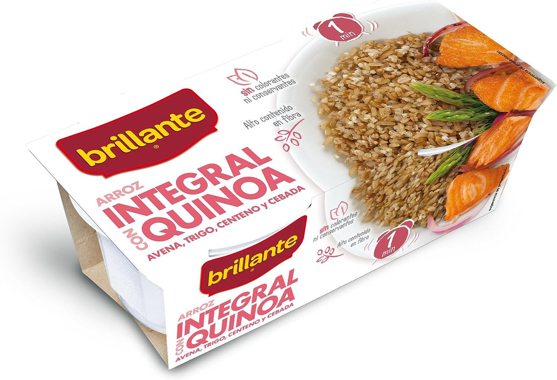 Brillante Arroz Integral Con Quinoa 125G X 2 - [Pack De 8] - Total 2 Kg