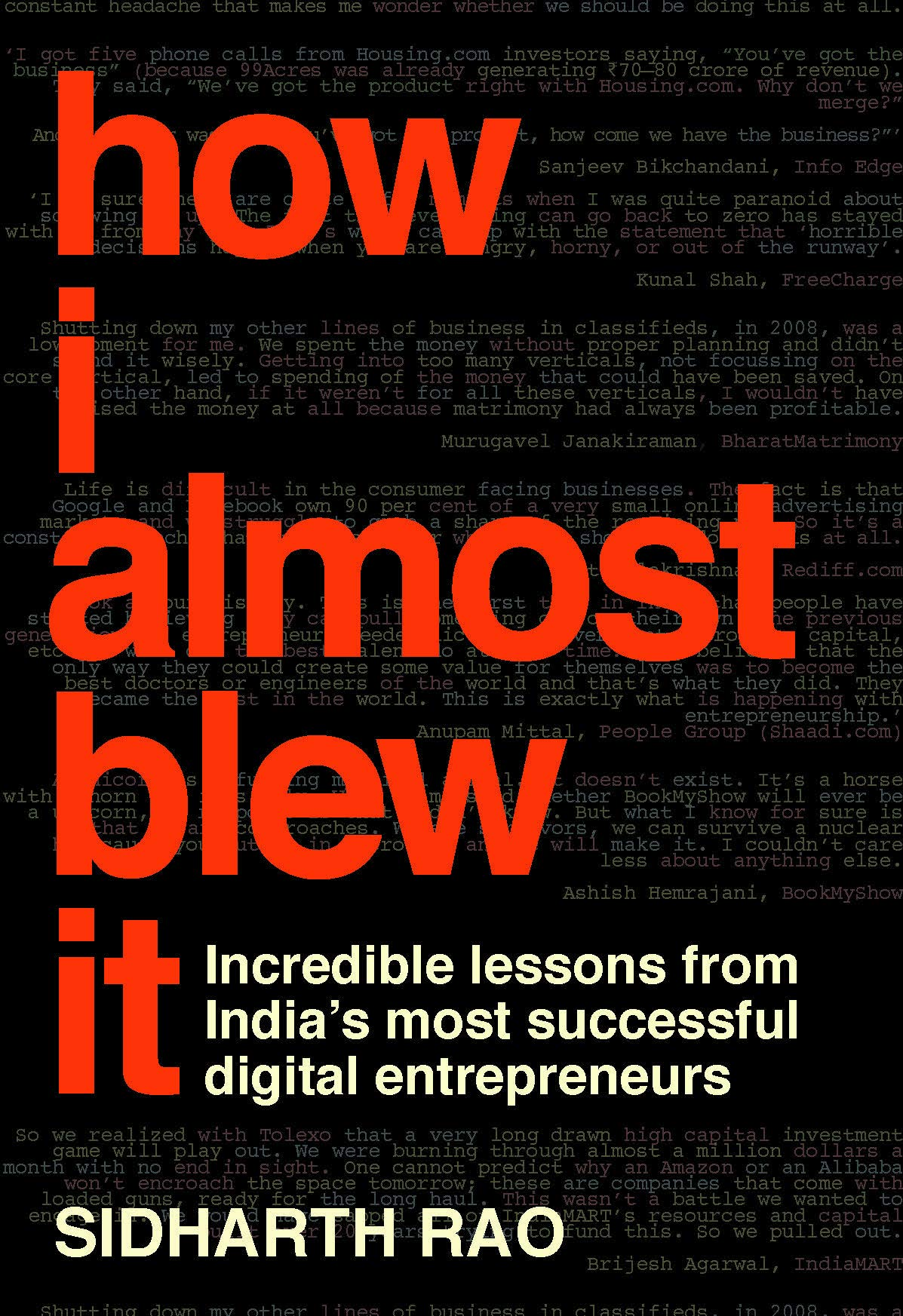 Buy How I Almost Blew It Book Online at Low Prices in India