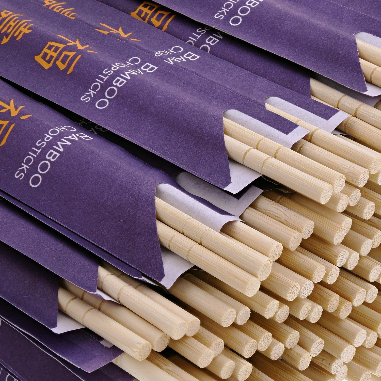 CiboWares 9'' Disposable Bamboo Chopsticks, Pack of 100