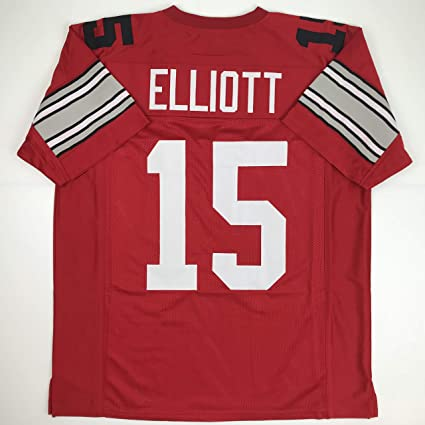 76a588030c2 Unsigned Ezekiel Elliott Ohio State Red Custom Stitched College Football  Jersey Size Men's XL New No