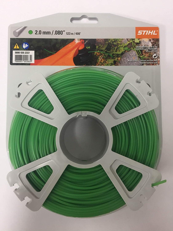 Genuine Stihl Strimmer Line 2.0mm / .080 x 123m /400' Round Green Wire