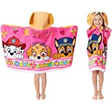 """Franco Kids Bath and Beach Soft Cotton Terry Hooded Towel Wrap, 24"""" x 50"""", Paw Patrol Pink"""