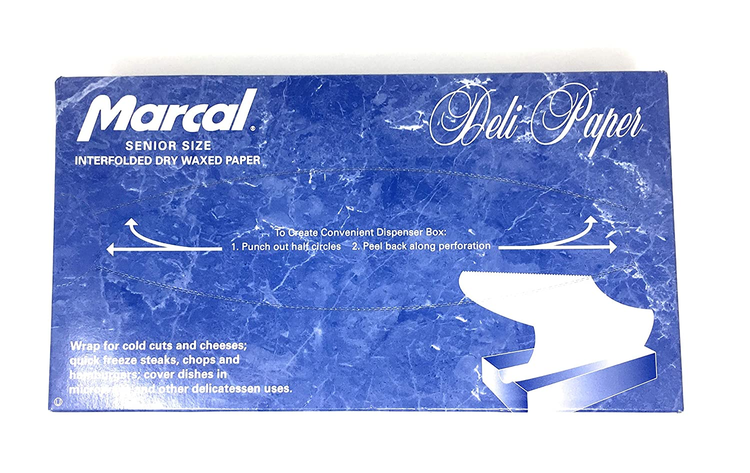 """Deli Wrap Interfolded Wax Paper/Dry Waxed Food Liner Senior Size 10"""" x 10¾"""", 500 Sheets"""