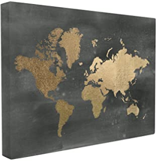 Amazon stupell home dcor black and gold world map wall stupell home dcor black and gold world map stretched canvas wall art 16 x 15 gumiabroncs Gallery