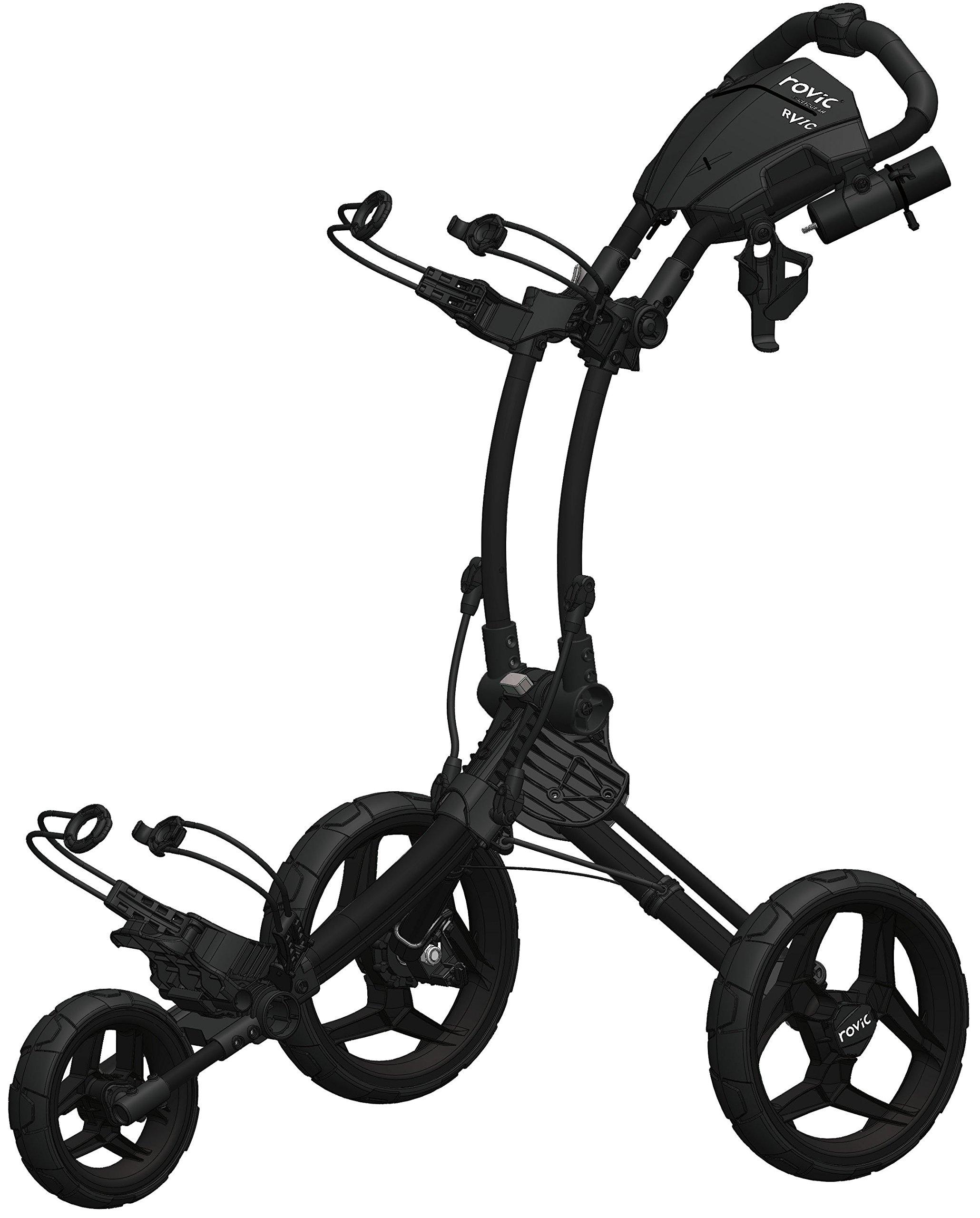 Clicgear Rovic Model RV1C | 3-Wheel Golf Push Cart (Charcoal/Black)