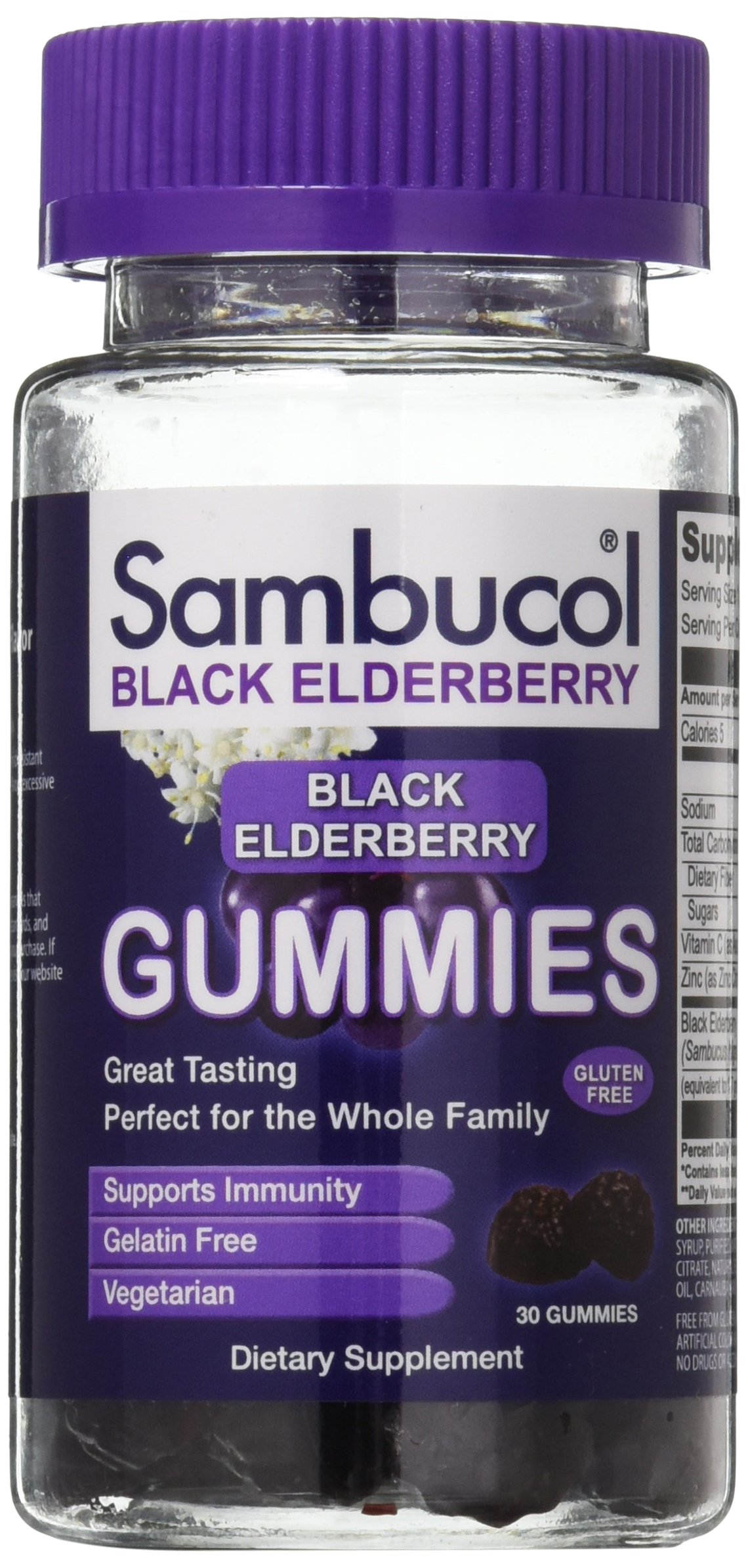 Sambucol Black Elderberry Gummies