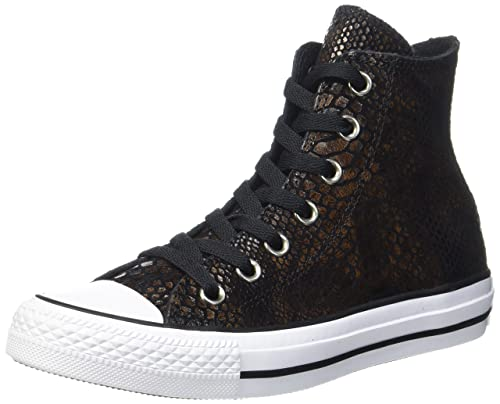 75198cfe91fed Converse Unisex Adults' CTAS Brown/Black/White Hi-Top Trainers, Mehrfarbig  (Brown/Black/White)