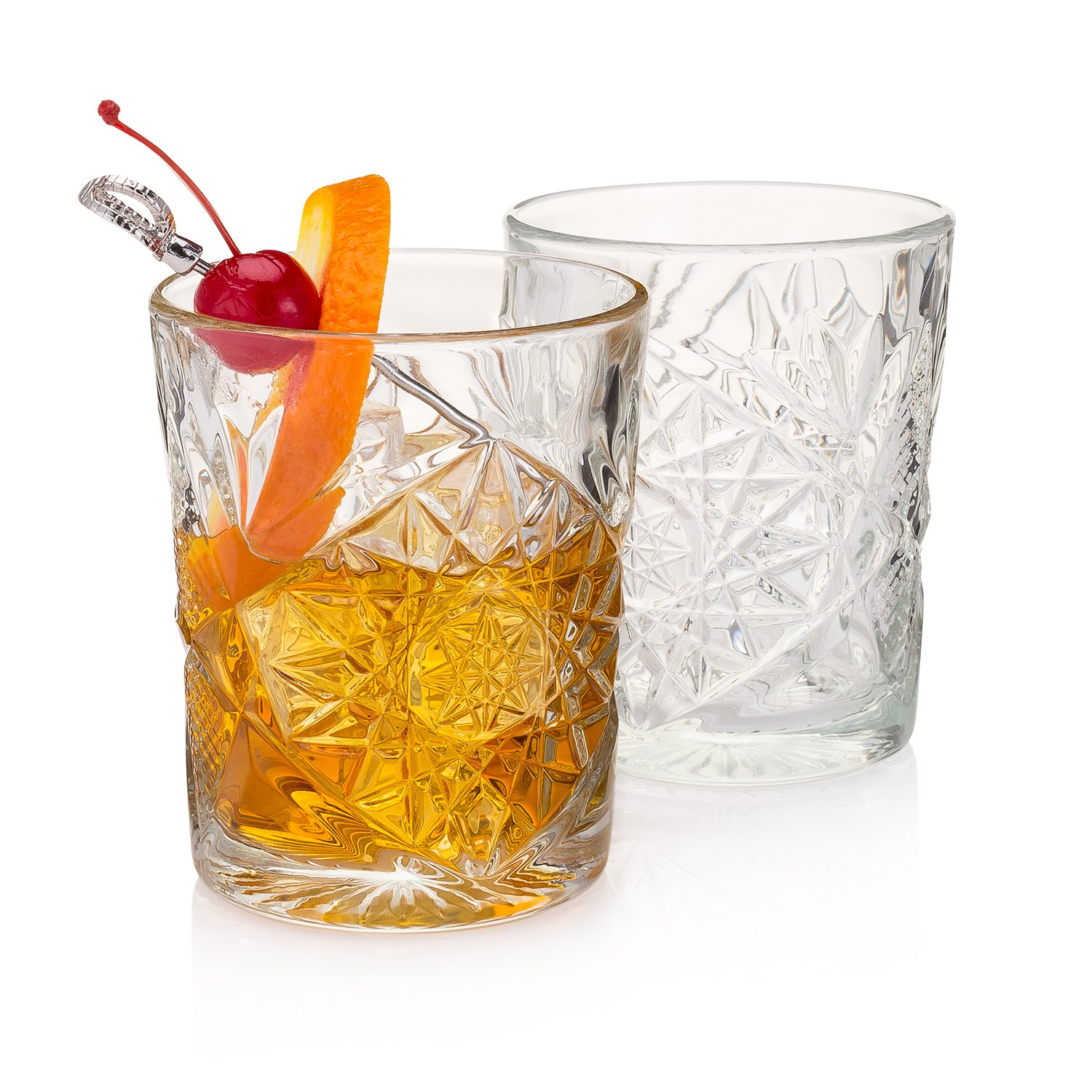 The''Tuxedo Park'' Old Fashioned Whiskey Glass (Men's Bar Set of 2)
