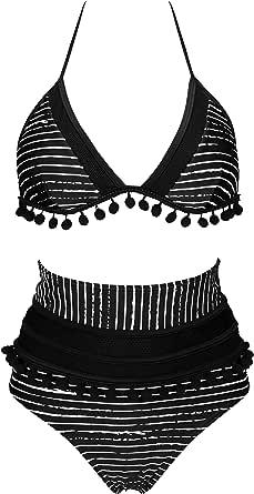 Laorchid Women Split Swimsuit Fashion Two Pieces Swimdress Tummy Control boyled Swimwear high Neck mesh Ruched