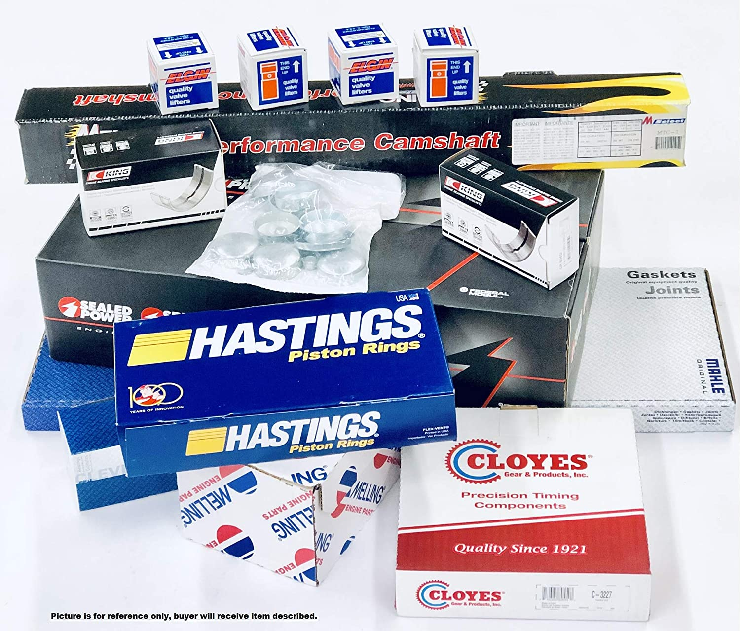MASTER Engine Overhaul Rebuild Kit Flat Top Pistons+Torque//RV Cam w//springs compatible with 1969-79Chevy SBC 350 5.7 ALL STD Sizes