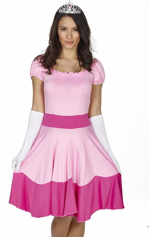 Disfraz RedRibbonLingerie de Princesa Peach de Super Mario, color ...