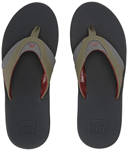 5f26ac5f092ce Amazon.com: Reef Sandals Fanning |Bottle Opener Flip Flops for Men,  Olive/Rust, 130 M US: Shoes