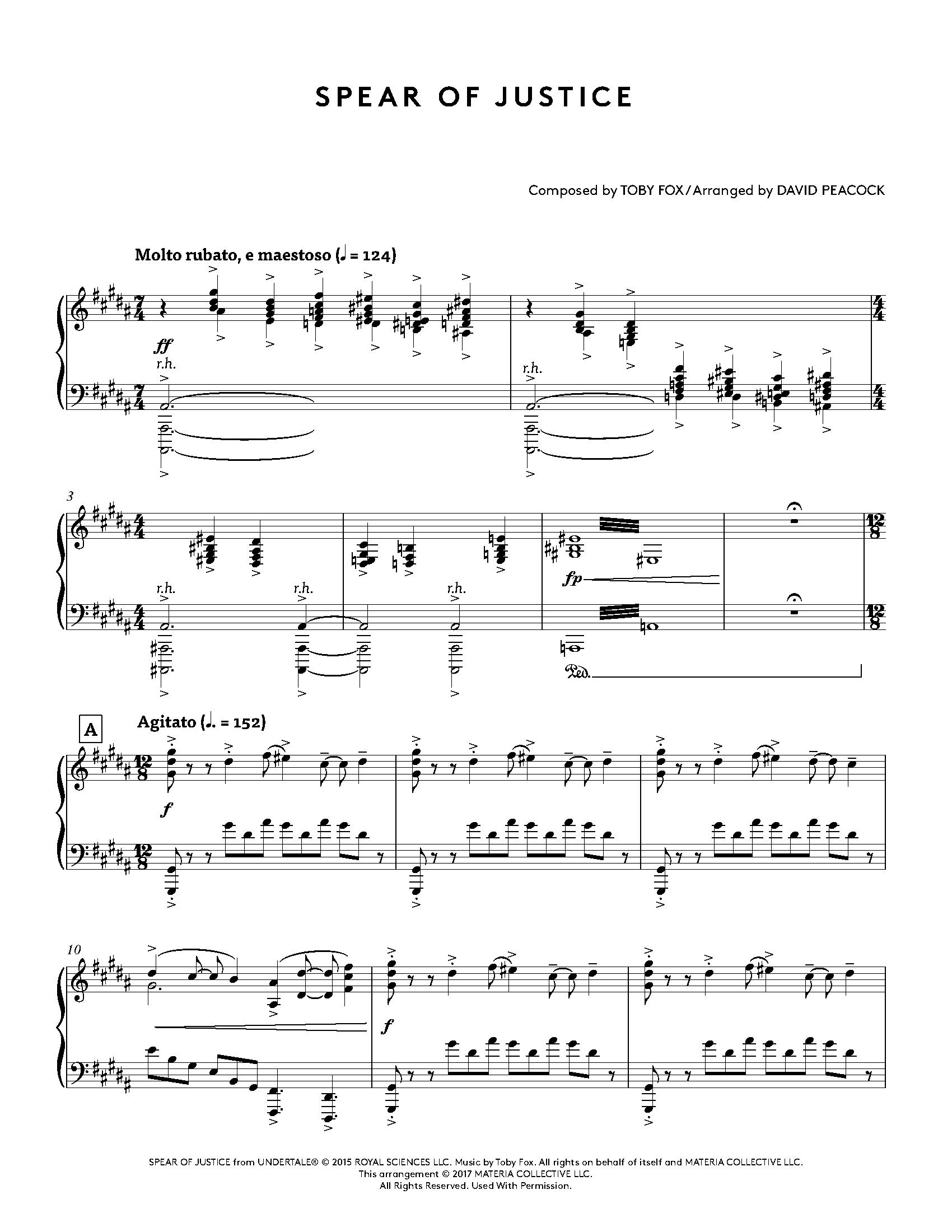 Undertale Piano Collections - Sheet Music from the game: Toby Fox