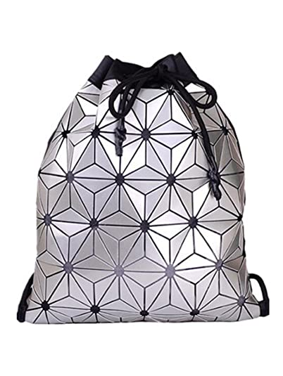 Amazon.com: Melissa Wilde New Bao Backpack Geometric Plaid Female Scool Backpacks For Teenage Girls Pu Bagpack Holographic Women Backpacks Bao Black: Shoes