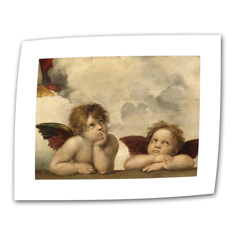 Raphael Art Wall Cherubs 60.96×81.28cm ロールキャンバス地 5.08cm アクセントボーダー B009YWB1JO
