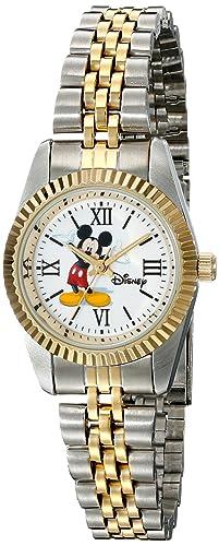 Amazon.com: Disney reloj de w001993 Two-Tone de Mickey Mouse ...